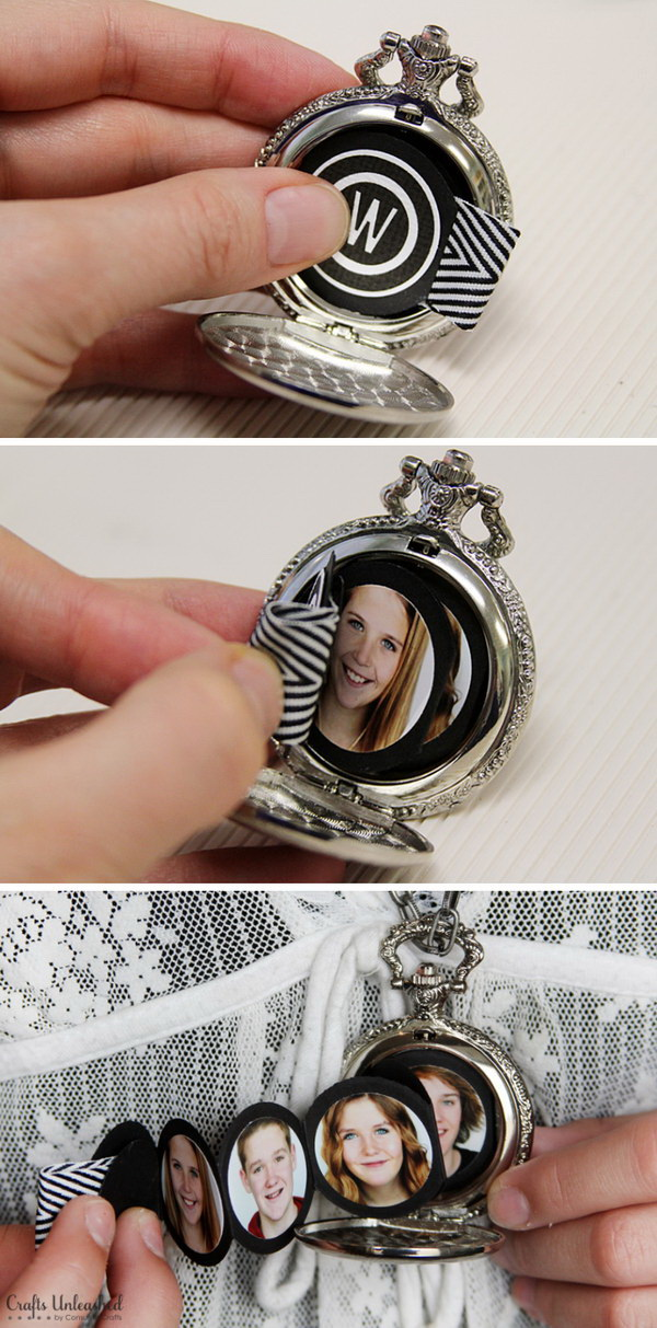 Mother's Day Crafts and gifts: MINI Album In A Pocket Watch.