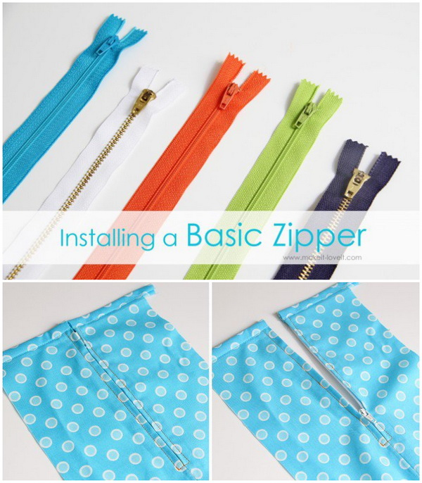 Genius Sewing Tips & Tricks: Installing a Basic Zipper in a Beautiful Way.