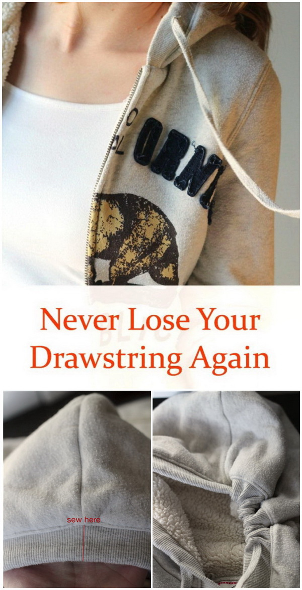 Genius Sewing Tips & Tricks: Never Lose Your Drawstrings Again.
