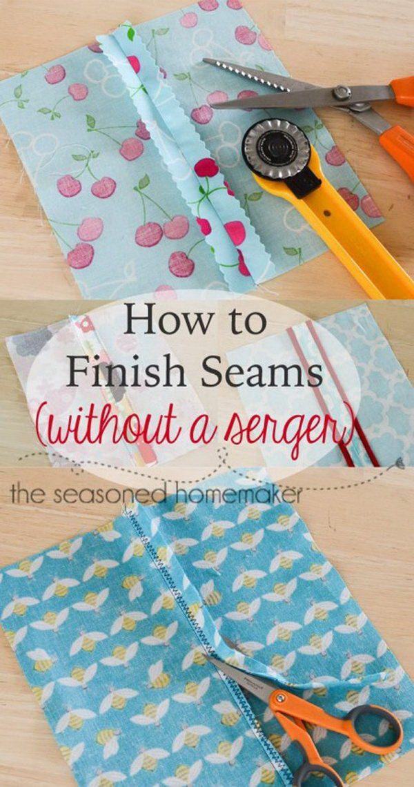 Genius Sewing Tips & Tricks: Finish Seams Without a Serger.