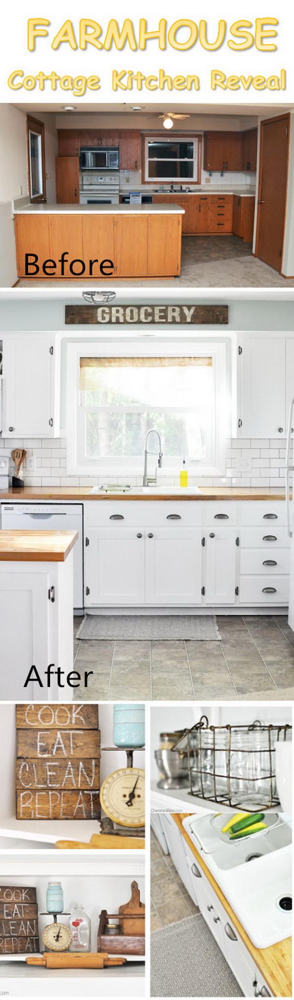Farmhouse Cottage Kitchen Reveal.