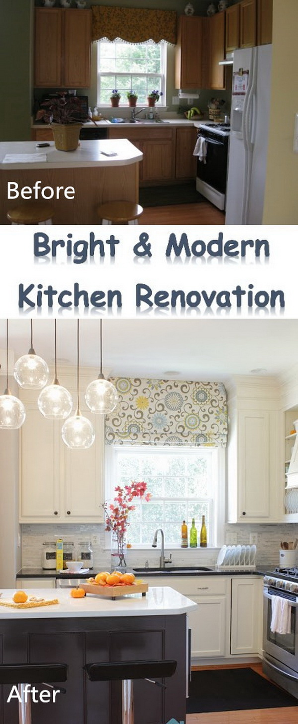 Bright and Modern Kitchen Makeover.