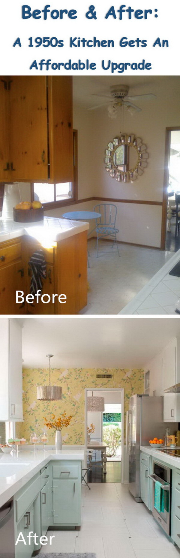 Before & After: A 1950s Kitchen Gets An Affordable Upgrade.