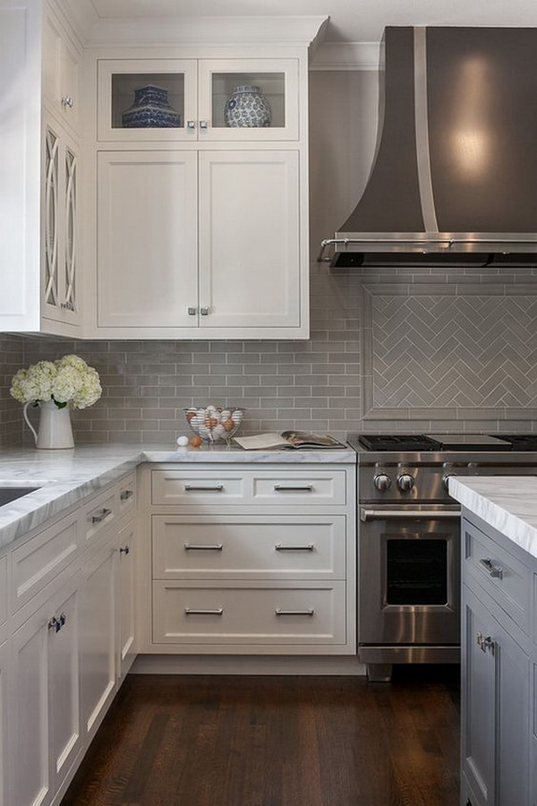 The grey subway tile.