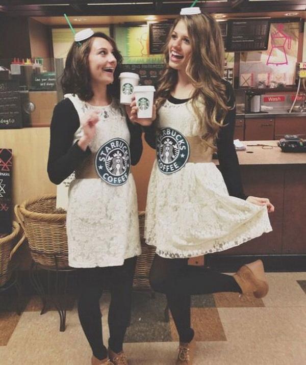 Starbuck Drinks Girl Best Friend Costumes.
