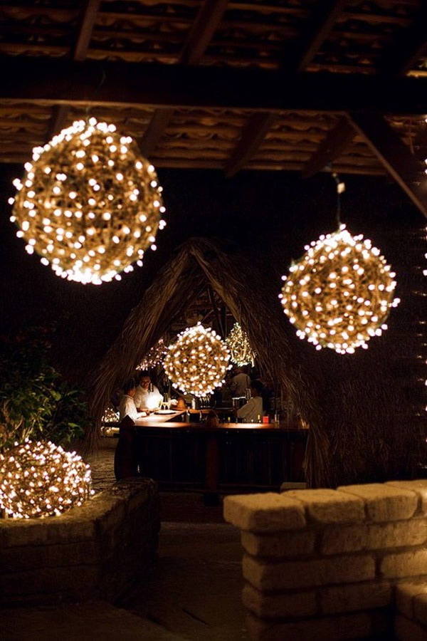 DIY Holiday Light Globe