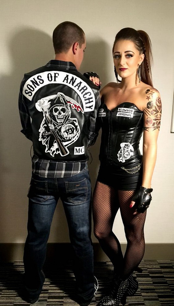 Sons of Anarchy Halloween Costume. Stylish Couple Costumes for Halloween.