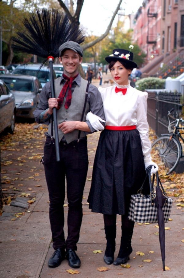 Mary Poppins and Bert costumes. Stylish Couple Costumes for Halloween.
