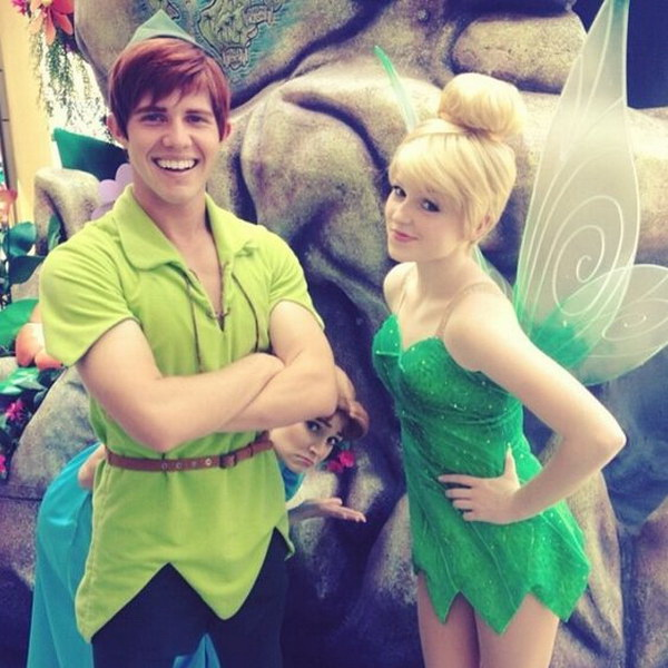 TinkerBell and Peter Pan. Stylish Couple Costumes for Halloween.