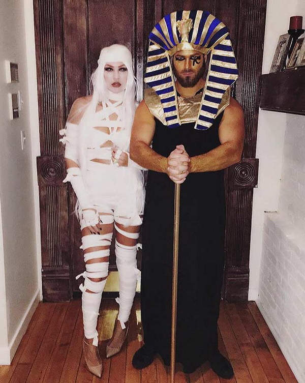 Mummy + King Tut. Stylish Couple Costumes for Halloween.