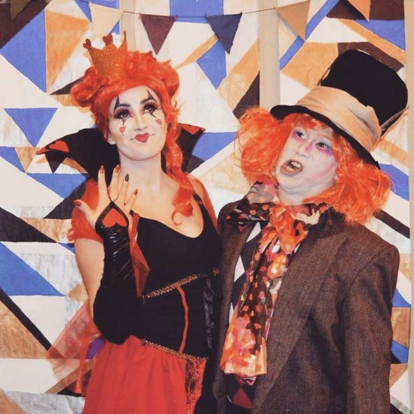The Mad Hatter + The Queen Of Hearts. Stylish Couple Costumes for Halloween.
