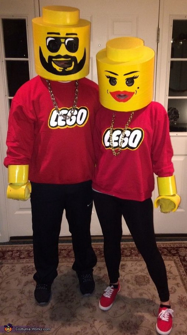 Lego Couple - Homemade Costumes For Couples. Stylish Couple Costumes for Halloween.