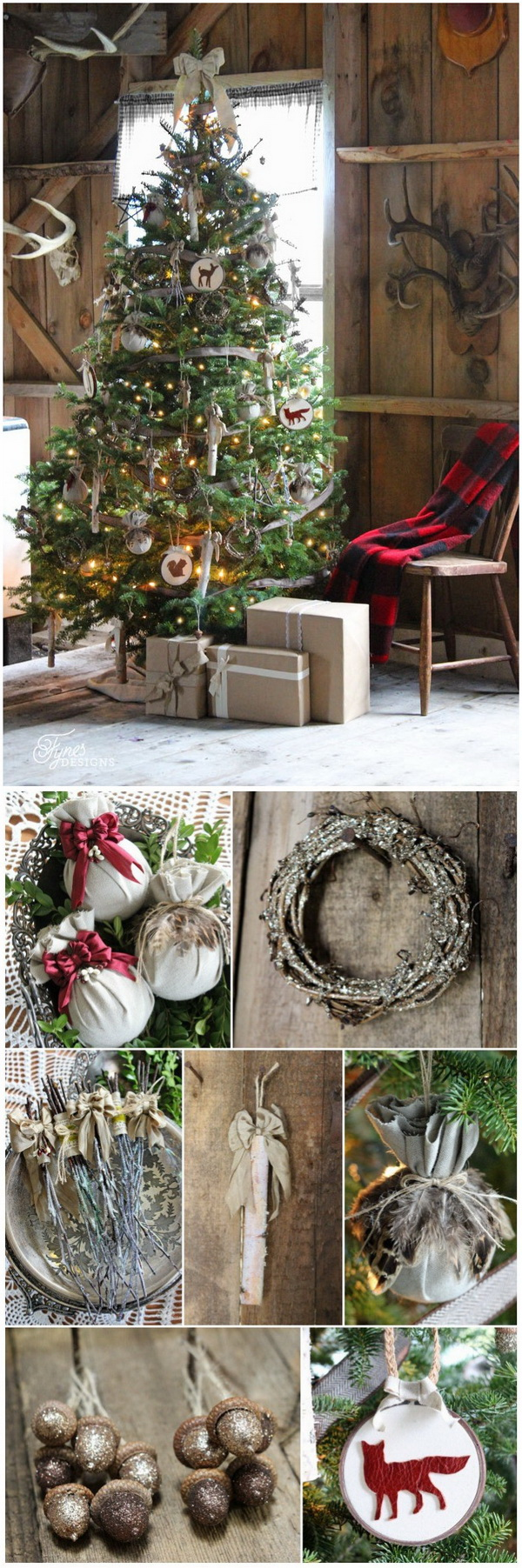 rustic christmas tree - Birch Christmas Decorations