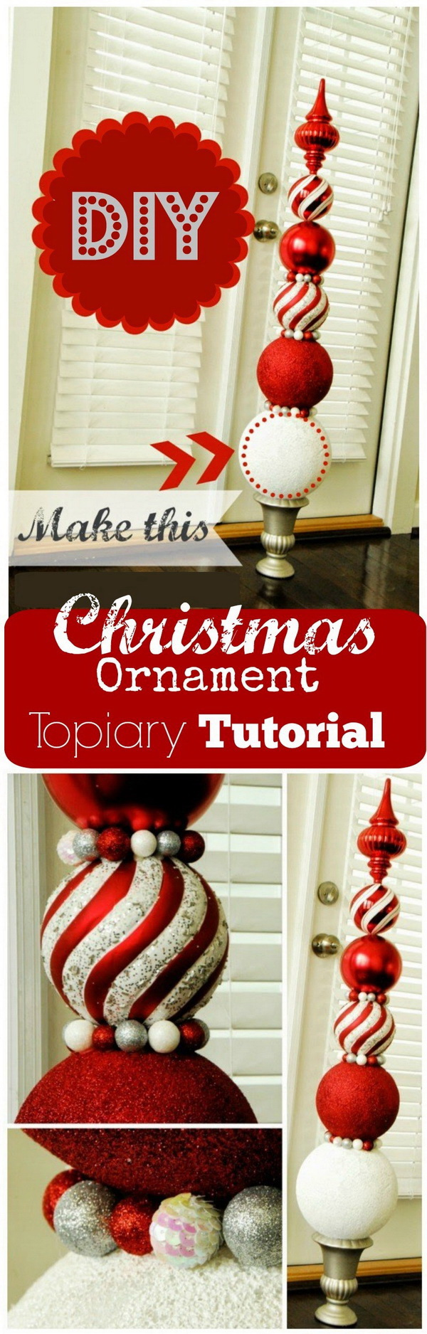 Homemade Projects & Ideas for Christmas Decoration: DIY Ornament Topiaries.
