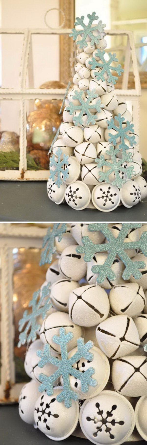 Homemade Projects & Ideas for Christmas Decoration: DIY Jingle Bell Tree.