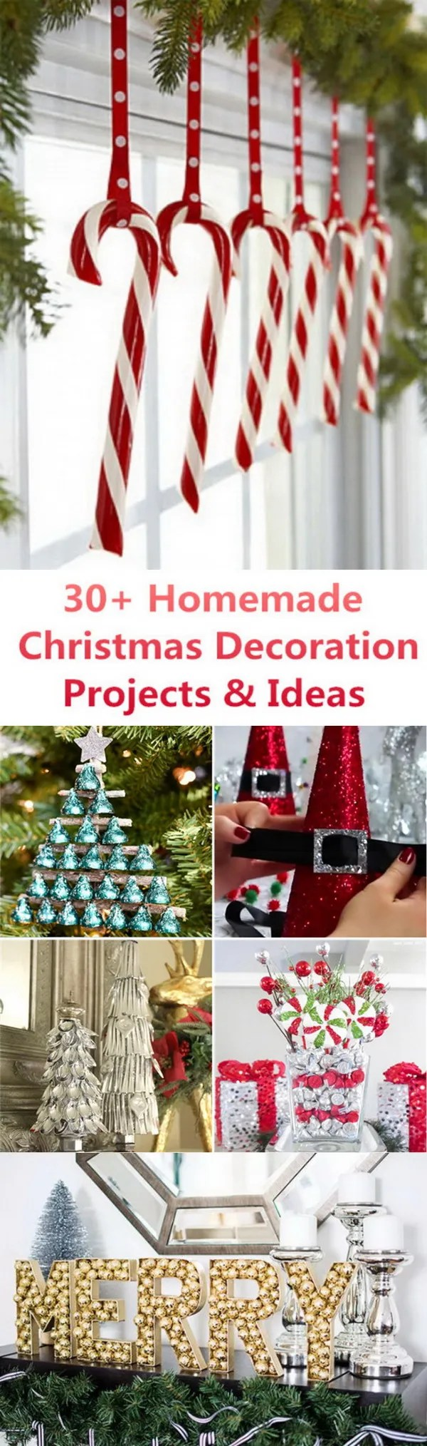 30 Homemade Christmas Decoration Projects Ideas For