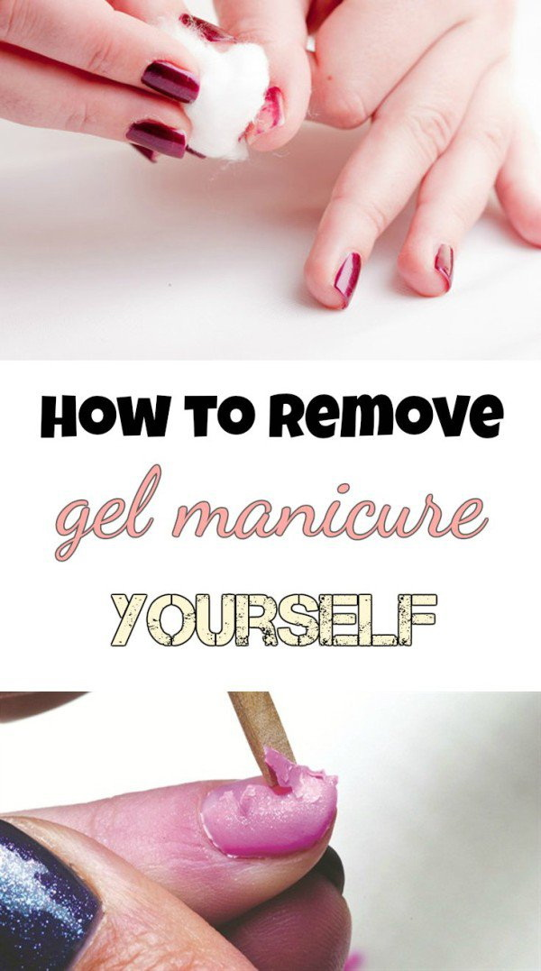 How To Remove Gel Manicure Yourself without Ruining Nails. Gel manicures look very beautiful and attractive, but it's such a pain to remove them. Here is a simple way that actually works to remove them away without ruining your nails.