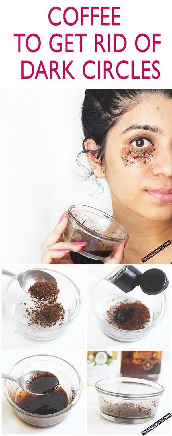 DIY Coffee Eye Mask To Get Rid Of Dark Circles and Puffy Eyes.