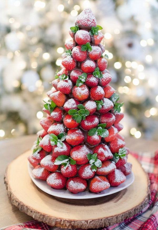 Chocolate Covered Strawberry Christmas Tree.