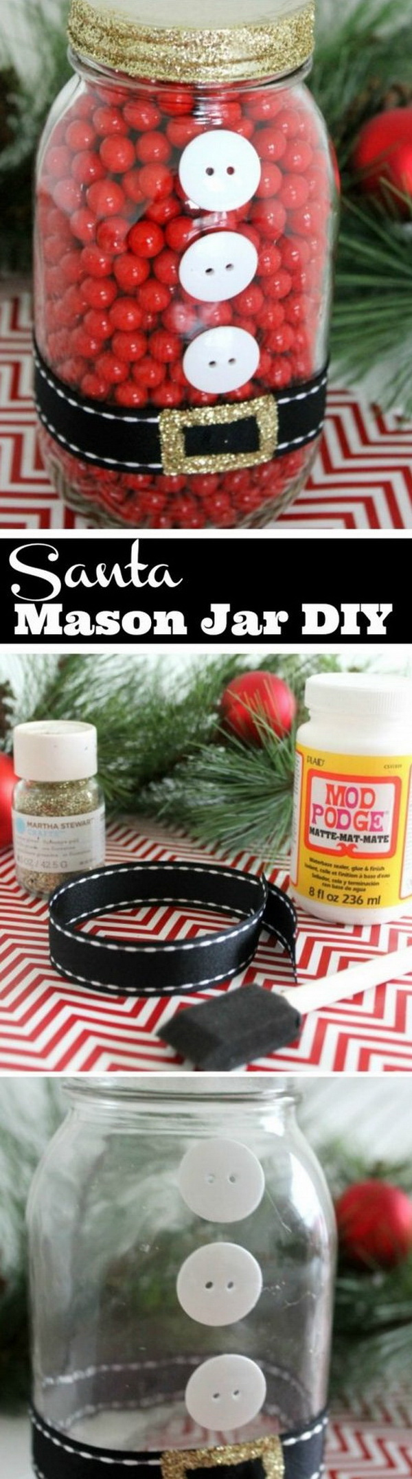 DIY Santa Mason Jar.