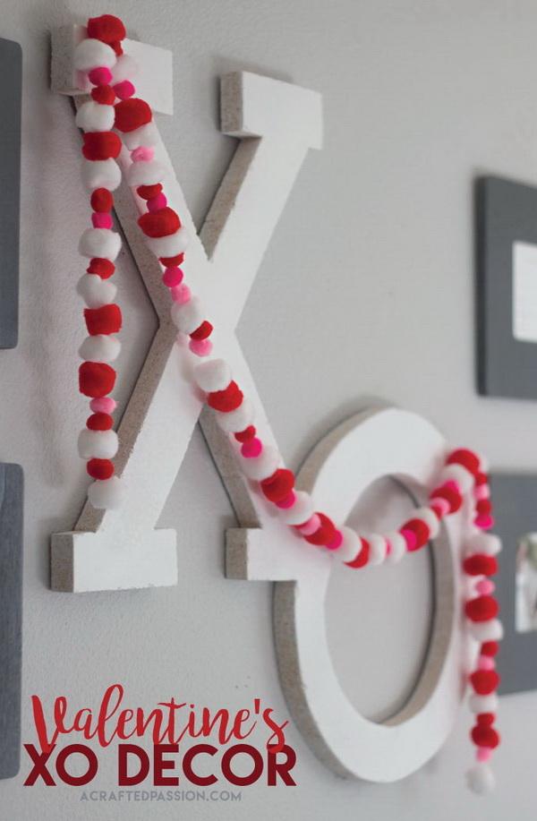 DIY XO Valentine Decor.