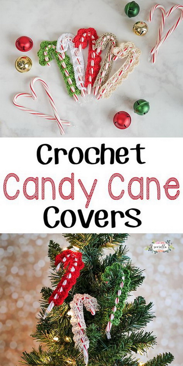 Crochet Candy Cane Covers.