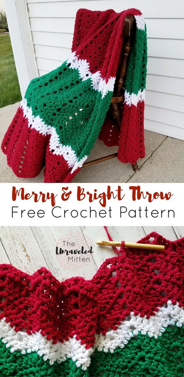 Merry and Bright Throw Blanket.