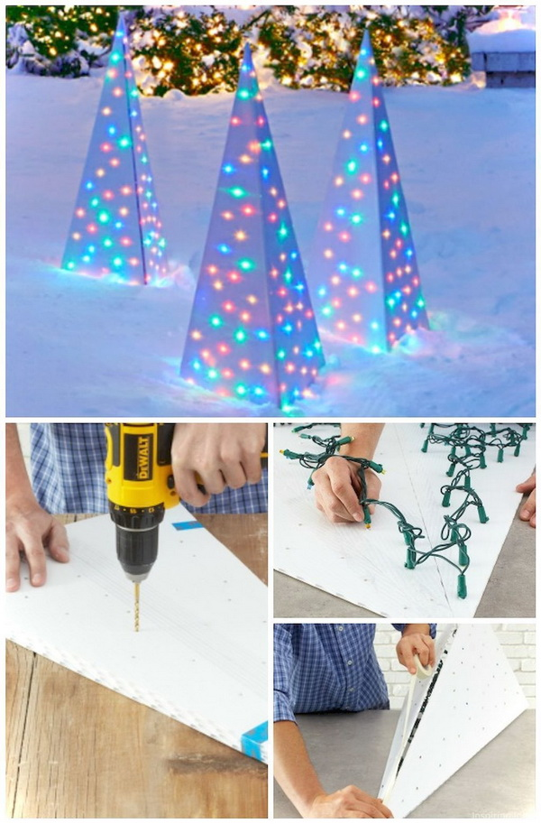 So stunning and amazing lighting idea for your garden decoration this Christmas season. It surely enhance the festive flair and atmosphere.
