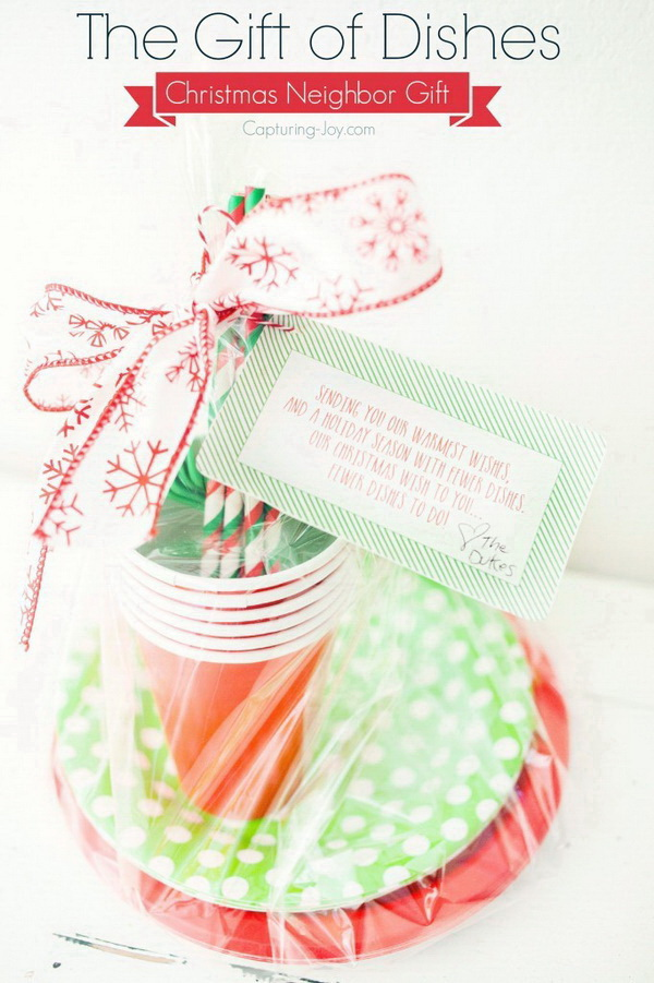 The Gift Of Dishes. Christmas Neighbor ...  sc 1 st  For Creative Juice & 50 Sweet Christmas Gift Ideas for Neighbors - For Creative Juice