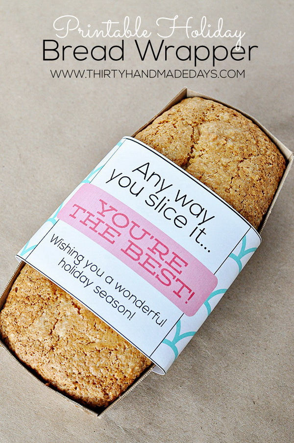 Christmas Neighbor Gift Ideas: Holiday Bread Wrappers