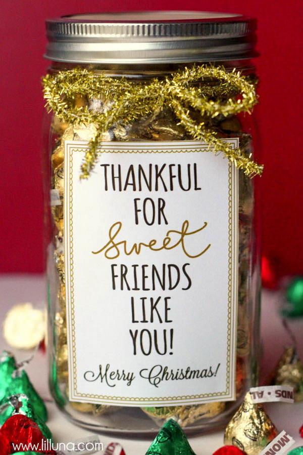 Christmas Neighbor Gift Ideas: Thankful for Sweet Friends Like You