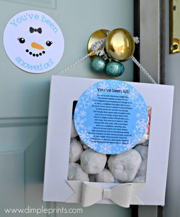 Christmas Neighbor Gift Ideas: You've been snowed on