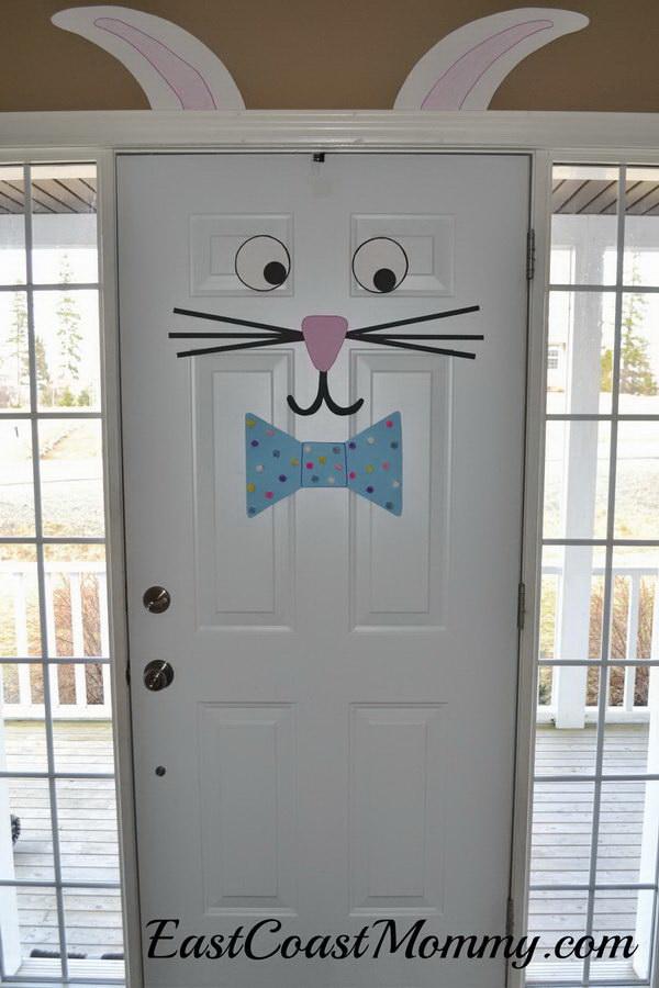 DIY Easter Decoration Ideas: Easter Bunny Door.