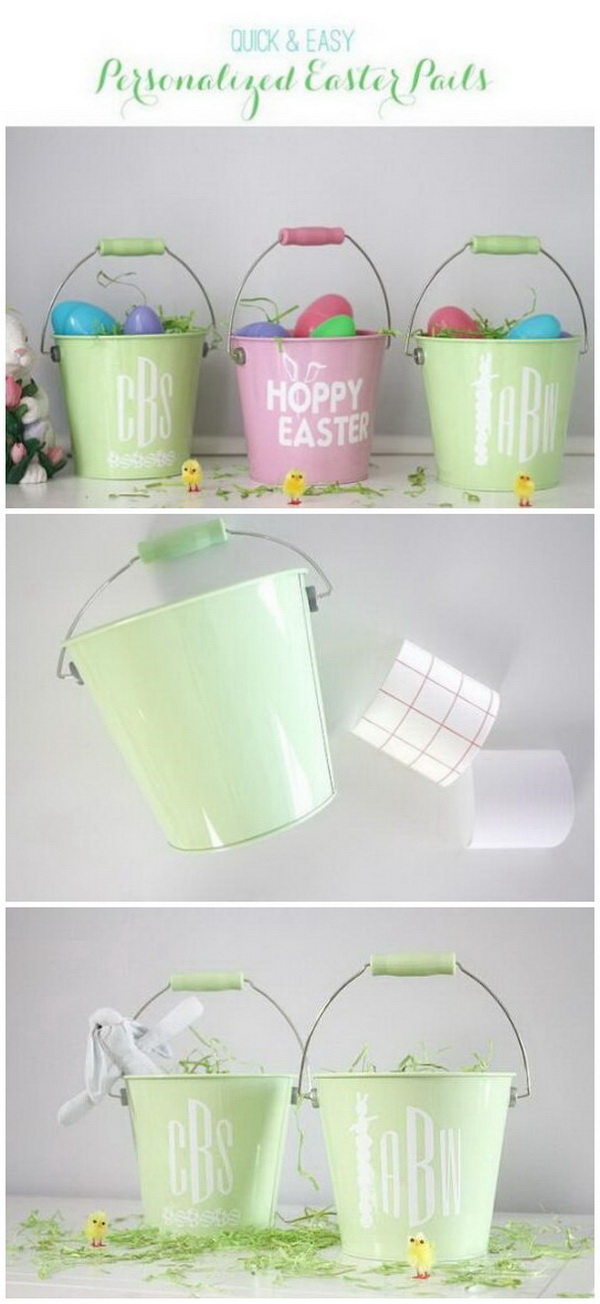 DIY Easter Decoration Ideas: Personalized Easter Egg Pails In Just 10 Minutes.