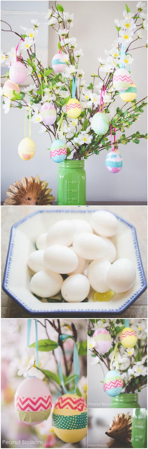 DIY Easter Decoration Ideas: Easter Egg Tree.