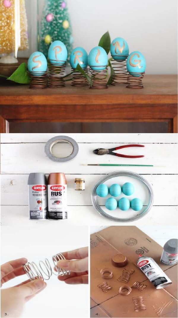 DIY Easter Decoration Ideas: Spring Egg Centerpiece.