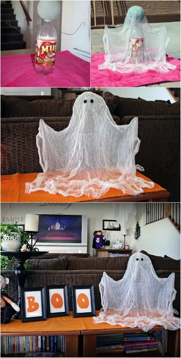 DIY Halloween Decorating Projects: DIY Halloween Floating Ghost.