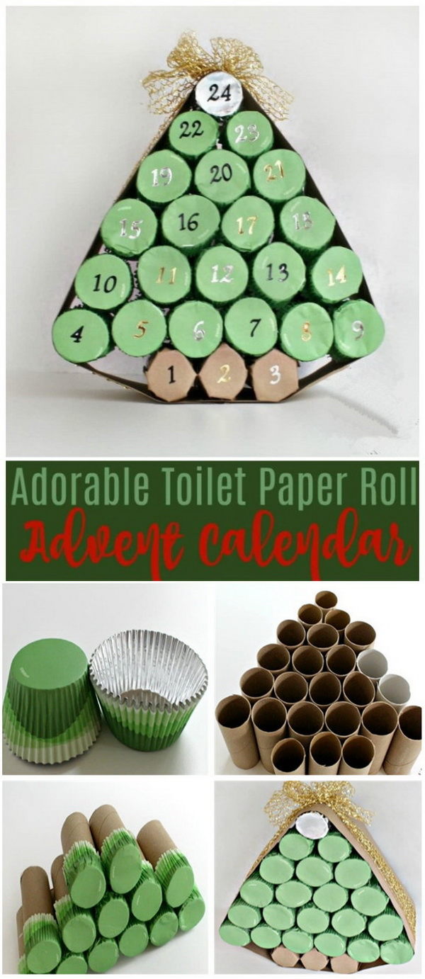 Adorable Toilet Paper Roll Advent Calendar.