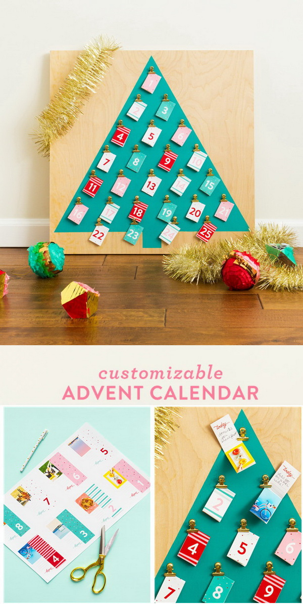 Customizable Christmas Advent Calendar.