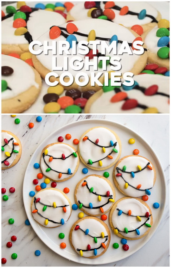 Quick and Easy Christmas Treat Ideas: Christmas Lights Cookies,