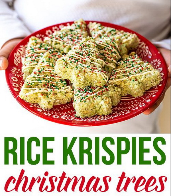 Quick and Easy Christmas Treat Ideas: Rice Krispies Christmas Trees.