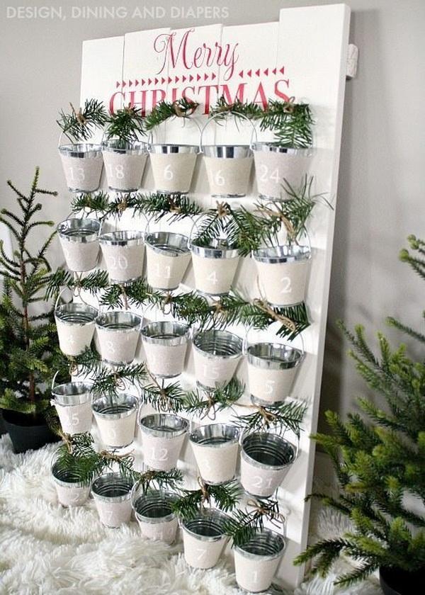 DIY Mini Bucket Advent Calendar.