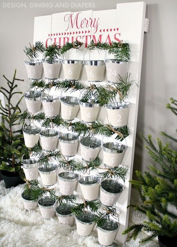 DIY Mini Bucket Advent Calendar.