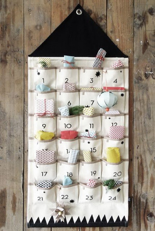 Cute Fabric Advent Calendar.