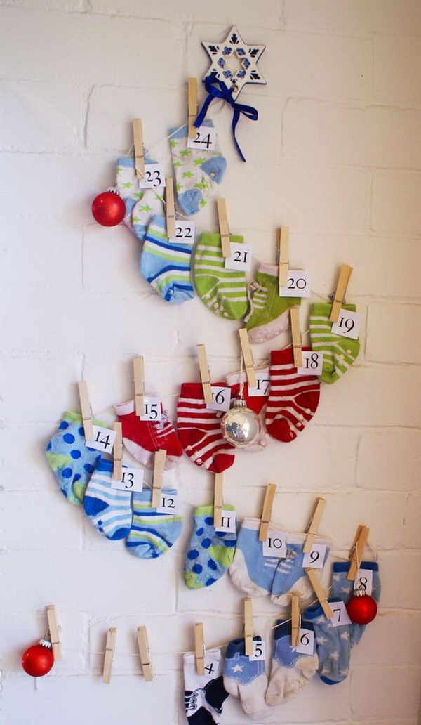 Sock Advent Calendar.