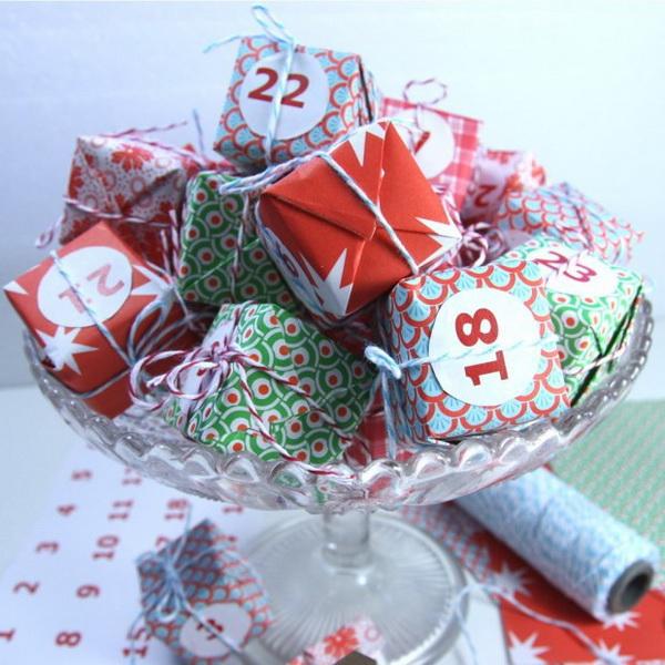 Miniature Boxes Advent Calendar.