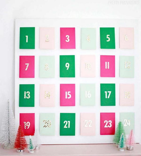 Envelope Advent Calendar.