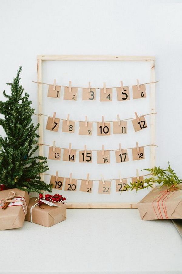 DIY Countdown to Christmas Advent Calendar.
