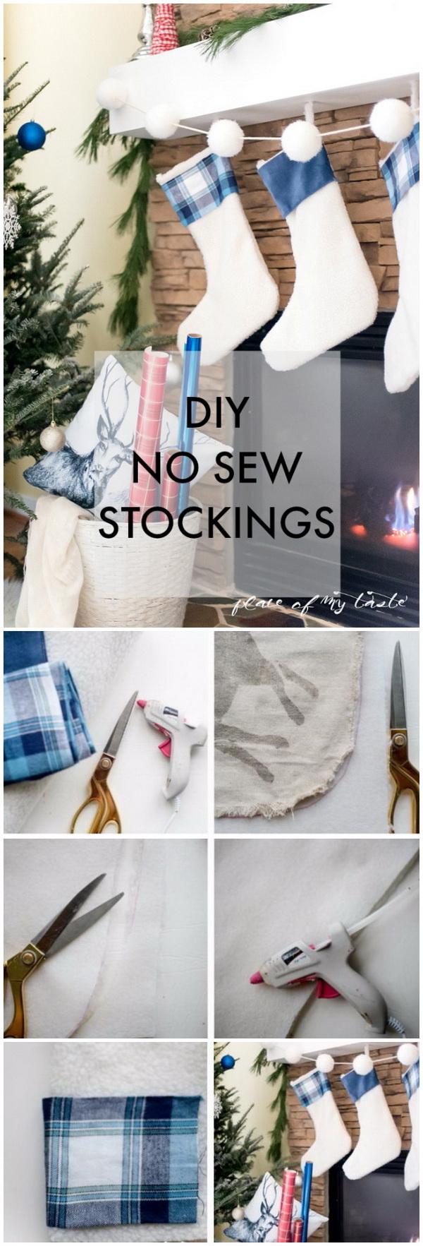 DIY No Sew Stockings.