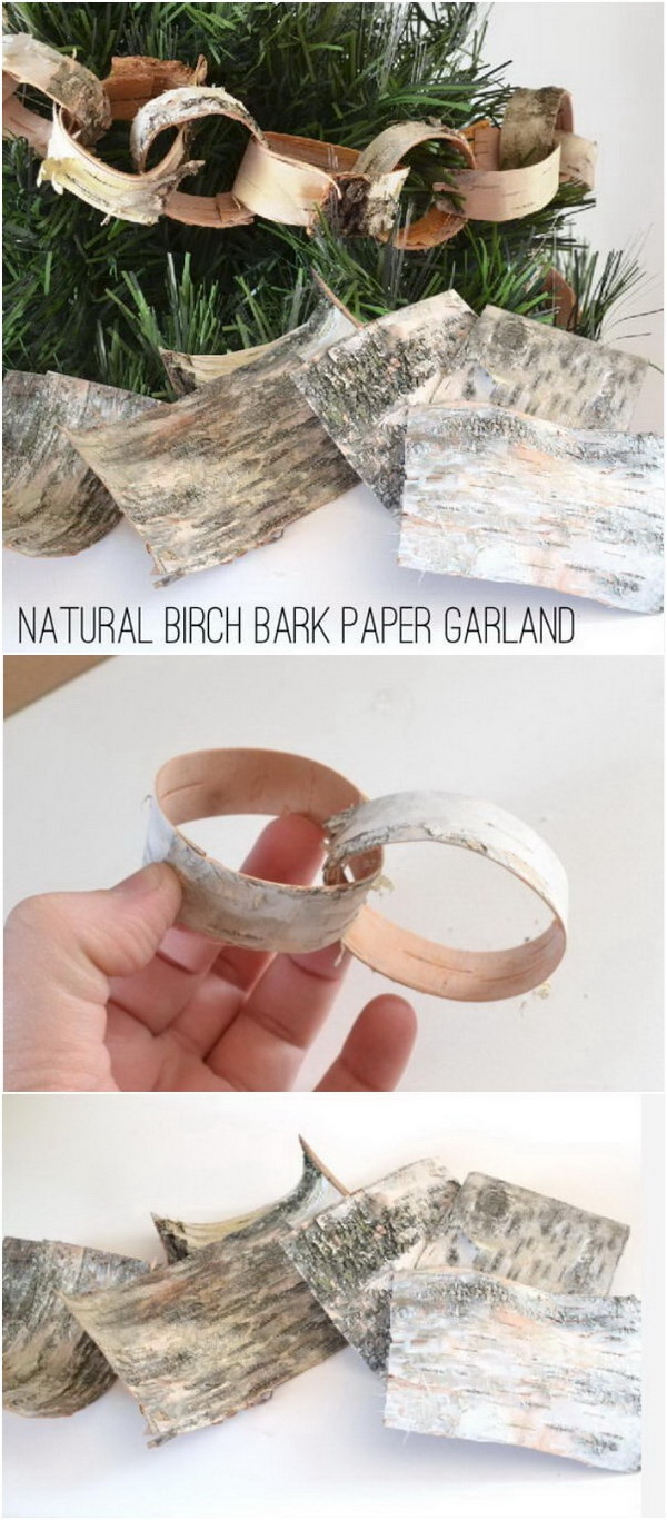 Natural Birch Bark Paper Garland.